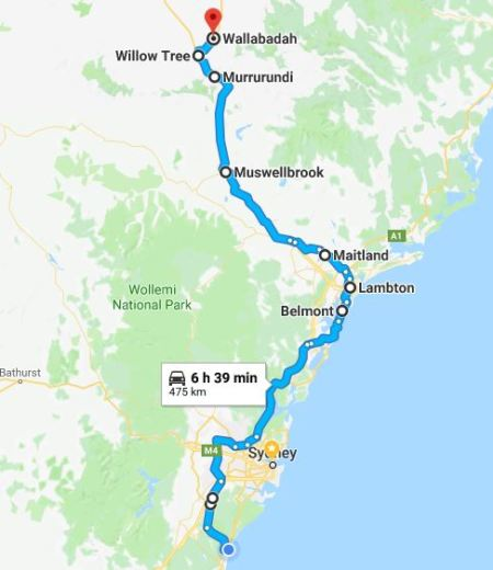 Thirroul to Wallabadah